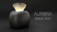 mordeco is raising funds for AURORA:A Glowing Tissue Box on Kickstarter! Daily supply artfully serves up tissue to a lamp with Multi-Reminder, let the amazing Northern Light comes to your life! Tissue Boxes, Aurora, Glow, Amazing, Contemporary, Life, Northern Lights, Glitter