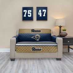 Los Angeles Rams Quilted Loveseat Cover, Multicolor