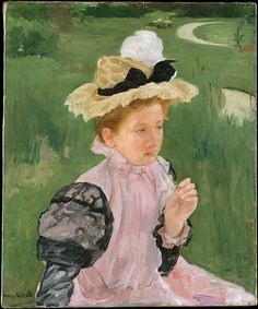 Portrait of a Young Girl, 1899 ~ Mary Stevenson Cassatt ~ (American: 1844-1926)