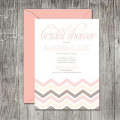 chevron bridal shower invitation