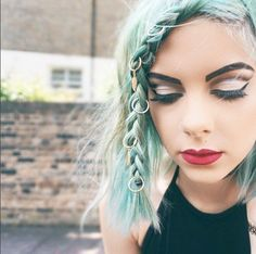 sophie hannah richardson using our faroe hair rings Dye My Hair, Green Hair, Blue Hair, Mint Hair, Lilac Hair, Hair Rings, Coloured Hair, Grunge Hair, Hair Dos