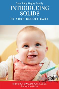 Are you introducing solids to your baby with reflux? These tips and tricks may help. Before Baby, After Baby, Baby Calm, What Is Sleep, Reflux Baby, Introducing Solids, Baby Led Weaning, Gentle Parenting, Parenting Tips