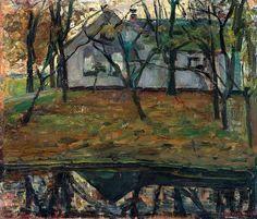 """Piet Mondrian (1872–1944) - Earlier Work Farm along the River Gein (c. 1903) """