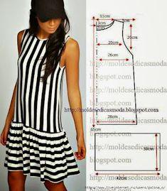 Diy Summer Clothes, Simple Summer Dresses, Diy Clothes, Barbie Clothes, Fashion Sewing, Diy Fashion, Ideias Fashion, Easy Sew Dress, Costura Fashion