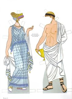 ddd* Arielle Gabriel's 1500 free paper dolls The International Paper Doll Society Ancient Greek Costumes, Ancient Greek Clothing, Historical Costume, Historical Clothing, Greece Fashion, Mode Costume, Creation Art, Vintage Paper Dolls, Ancient Greece