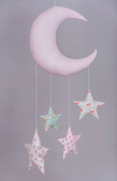 Baby Mobile  Moon Baby Mobile  Fabric by ForestGirlbyElektra