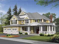Country House Plan with 4430 Square Feet and 4 Bedrooms from Dream Home Source | House Plan Code DHSW64048