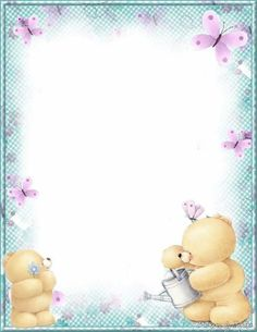 Made by Sophia Delve Design Scrapbook Bebe, Scrapbook Paper, Free Printable Stationery, Page Borders Design, Baby Frame, Friends Wallpaper, Borders For Paper, Boarders And Frames, Tatty Teddy