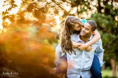 fun, colorful engagement session in Raleigh