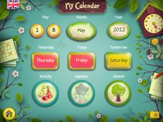 Teaching Learners with Multiple Special Needs: Calendar and Advanced Visual Schedule Apps for Kids with Special Needs Playroom Organisation, Autism Apps, Spring School, Behavior Modification, My Calendar, Visual Schedules, Assistive Technology, Children With Autism, Yesterday And Today