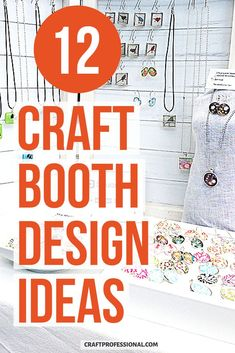 Lots of craft booth design ideas. 12 photos show you how to set up a craft show display using portable tables. #craftbooth #craftshow #craftprofessional Craft Show Booths, Craft Show Displays, Display Ideas, Selling Crafts Online, Craft Online, Craft Business, Business Tips, Selling Handmade Items, Portable Table