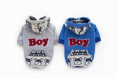 """>> Click to Buy << Casual Dog Hoodie Pet Clothes for Chihuahua Blue Gray """"BOY"""" Dogs Coat with Hooded Top-quality Pet Apparel Dog #Affiliate"""