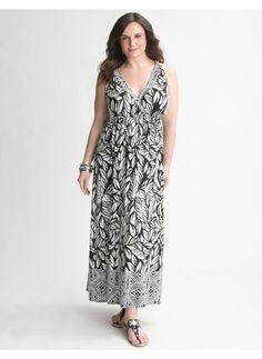 Lane Bryant Mixed print maxi dress - Women's Plus Size/Black - Size
