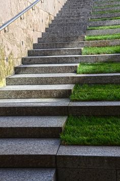 grass stairs.   I'm thinking this would be a pain to mow.