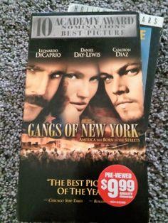 Gangs of New York [VHS] Leonardo DiCaprio, Jim Broadbent, Daniel Day-Lewis, GUC