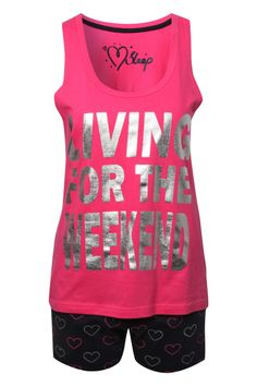 'living for the weekend' one of my bold statement designs for Peacocks nightwear