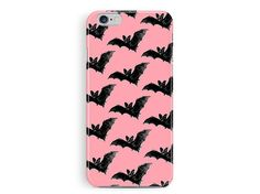 Halloween Accessories, Halloween phone Case, Bat pattern, Pink Phone cases, Gift Ideas, Fall phone casesSoft Goth, Vampire Phone case,