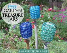 How To Make Garden Treasure Jars. Looks like a good spot to put garden blessings! :)