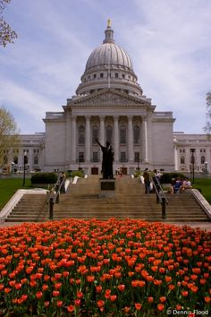 State Capitol building in Madison, Wisconsin,