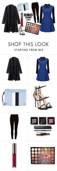 """""""Untitled #4"""" by bebebelabee on Polyvore featuring WithChic, rag & bone, Giuseppe Zanotti, River Island, Bobbi Brown Cosmetics, Chantecaille and Morphe"""