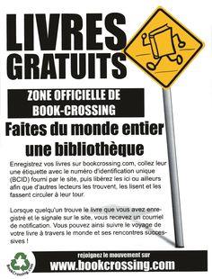 www.bookcrossing.com Forum français: http://www.bookcrossing.com/forum/17
