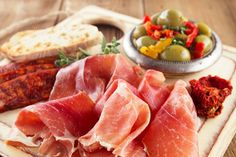 instead of for a bistro platter & two glasses of wine for 2 at Pall Mall Fine Wine, Charing Cross - save Tapas Menu, Tapas Dishes, Traditional Spanish Dishes, Deep Fried Potatoes, Steak Skewers, Garlic Prawns, Meat Platter, Lentil Stew, Artisan Cheese
