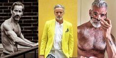 12 Ώριμοι άντρες άνω των 40 με μοναδικό στυλ Men Over 40, Hair Color, Coat, Style, Fashion, Haircolor, Swag, Moda, Fashion Styles