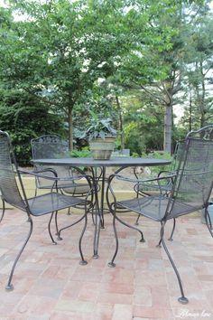 Tons of outdoor garden tables marble top bistro table garden spray paint patio furniture brick patio watchthetrailerfo