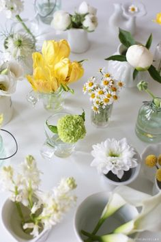 Decorate your Easter table with simple spring bouquets. Decorate With Flowers book review http://www.image.ie/Interiors/Interior-Buzz/Floral-Fancy/