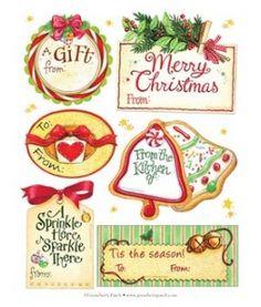 Christmas baking labels