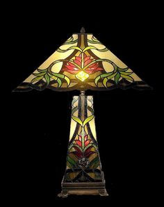 Tiffany style Stained glass Table Lamp QHS181816 on Etsy, $229.00