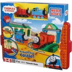 Thomas & Friends Mega Bloks All Aboard at Tidmouth Sheds Play Set