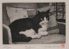 Hiroto Norikane (b. 1949) - Cat Near Window