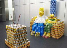 Cans Do! 35 Super Creative Sculptural Supermarket Displays