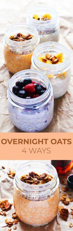 4 overnight oatmeal recipes