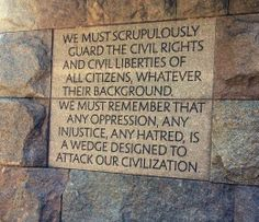 United States F.D.R. monument | Franklin Delano Roosevelt Memorial: One of many FDR quotes