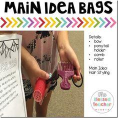 What' s The Main Idea? {FREEBIE} ...Main idea bags are such an awesome idea!