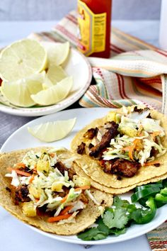 Skillet Charred Cod Tacos with Roasted Pineapple Slaw | Karen's Kitchen Stories #fishtacos #tacos Vegetarian Cookbook, Vegetarian Recipes Easy, Vegetable Recipes, Indian Food Recipes, Healthy Recipes, Mexican Recipes, Delicious Recipes, Seafood Recipes, Soup Recipes