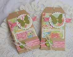 Pocket tags with little gift cards.  Crate Paper