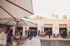 Cocktail reception on the patio at Royal Palms Resort and Spa Kimberly Jarman photography Phoenix/Scottsdale Wedding venue http://www.royalpalmshotel.com/weddings/phoenix-arizona-weddings