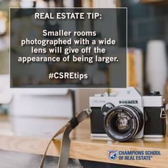 REAL ESTATE TIP: Smaller rooms photographed with a wide lens gives off the appearance of being larger. #CSREtips