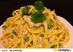 Špagety s tuňákem, hráškem a ricottou recept - TopRecepty.cz Ricotta