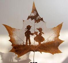 hojas Leaf silhouette