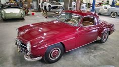 One of our current projects: A red Mercedes Benz #190SL with hardtop. (color is DB 516 Dunkel Rot). For all your Mercedes Benz #190SL restoration needs please visit us at http://www.bruceadams190sl.com. #BruceAdams190SL #190SLRestorations