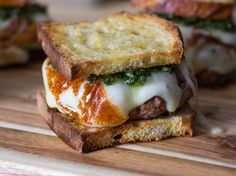 Argentine Asado Burgers With Seared Provolone and Chimichurri