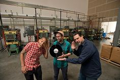 Cascade Record Pressing Owners Adam Gonsalves, Steve Lanning, and Mark Rainey.