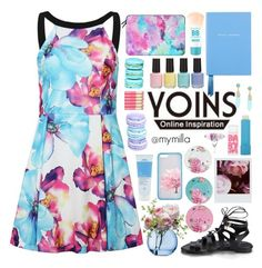 """""""Yoins spring fever"""" by mymilla ❤ liked on Polyvore featuring Royal Albert, Aveda, LSA International, Maybelline, Casetify, Polaroid, Smythson, BP., Spring and pinkandblue"""