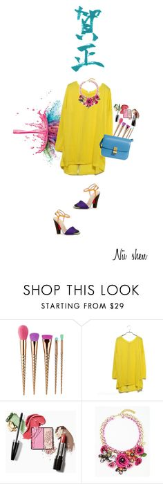 """""""Yellow trend"""" by nushen ❤ liked on Polyvore featuring tarte, Givenchy, CÉLINE and Donna Karan"""