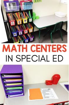 Need ideas for how to successfully run math rotations in your special education classroom? Check out how I used these teacher run and independent skill centers to help my kids. I did this set-up with my kindergarten, and grade sped students a Teaching Special Education, Kids Education, Teaching Math, Special Education Organization, Teaching Ideas, Education City, Education Logo, Teaching Reading, Learning