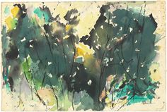"Alma Thomas, ""Spring Fantasy,"" 1963, watercolor with brush and black ink on wove paper, National Gallery of Art, Washington, Corcoran Collection (Gift of Ida Jervis in Memory of Alma Thomas) Alma Thomas, National Gallery Of Art, Famous Artists, Washington, Watercolor, Ink, Fantasy, Paper, Spring"